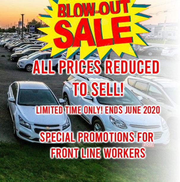 Blow Out Sales!